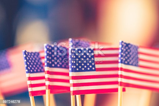612818918 istock photo American flag background for patriotic American holidays 597246278