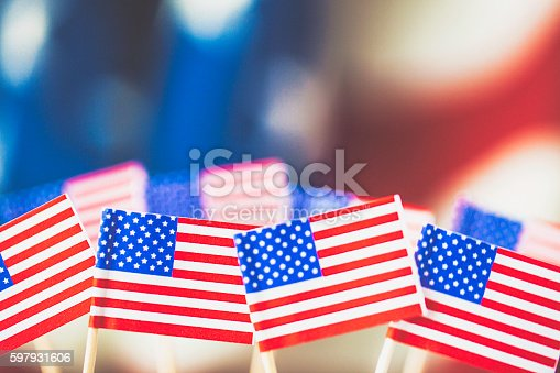 612818918 istock photo American flag background for patriotic American holidays 597931606