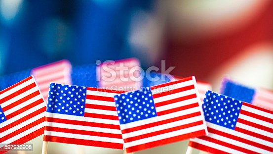 612818918 istock photo American flag background for patriotic American holidays 597936908