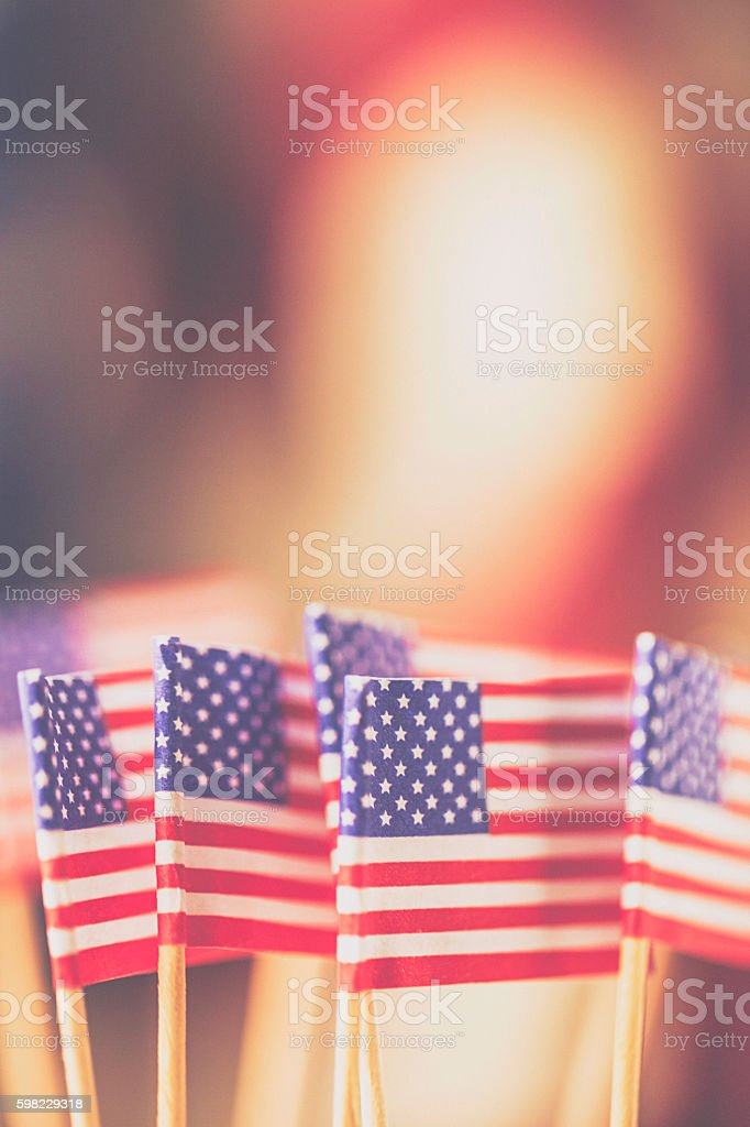 American flag background for patriotic American holidays foto royalty-free