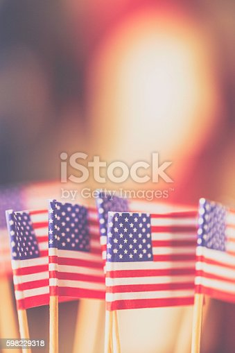 612818918 istock photo American flag background for patriotic American holidays 598229318