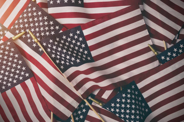 American Flag Background - Fourth of July stock photo