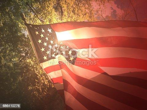 istock American Flag Background 686410276