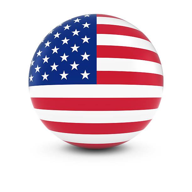 Cтоковое фото Американский флаг мяч с флагом США в сфере