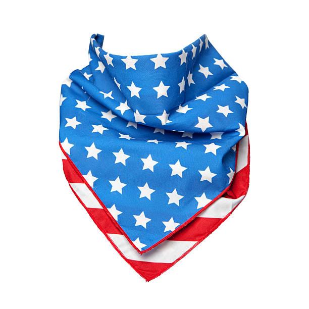 bandana mit amerikanischer flagge - schal mit sternen stock-fotos und bilder