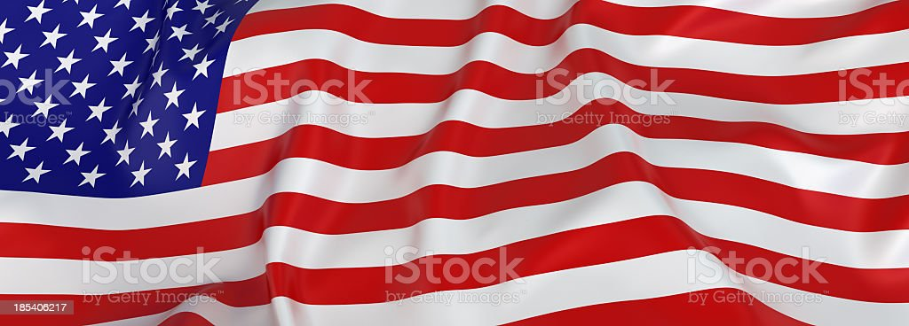 American flag banner stock photo