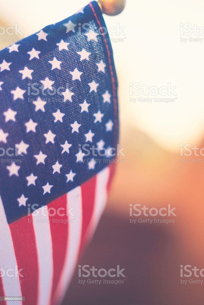American flag border for patriotic background stock photo