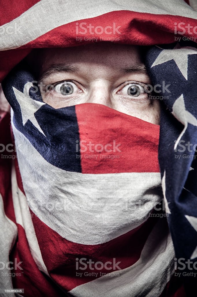 American Flag Burka royalty-free stock photo