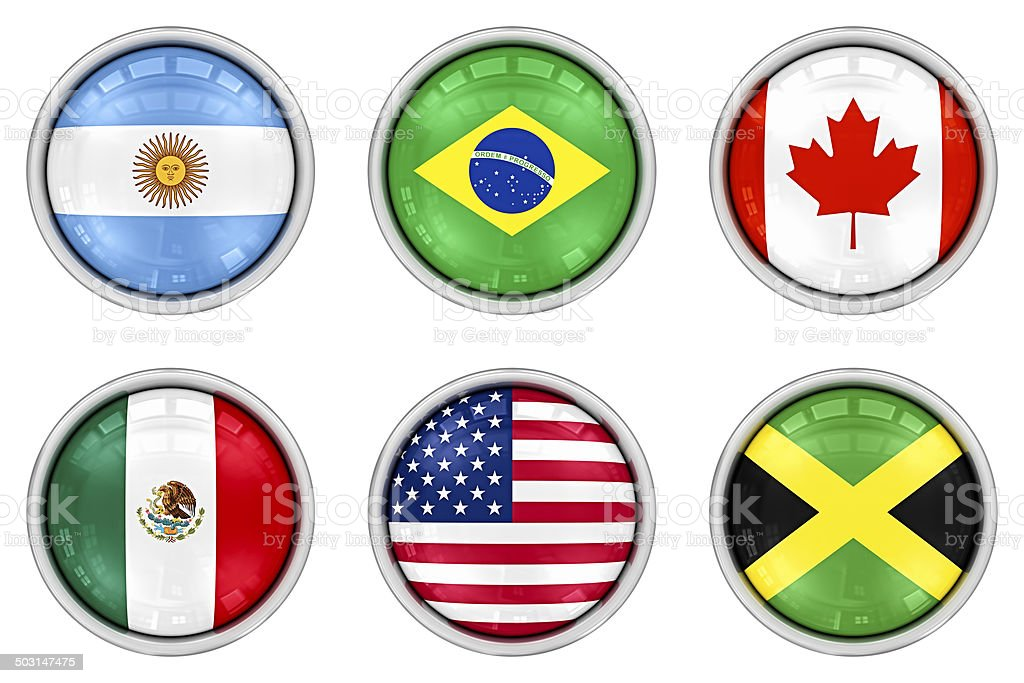 american flag buttons stock photo