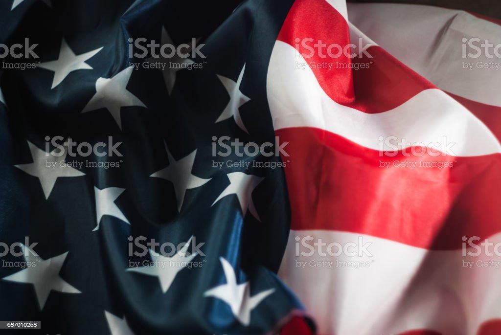 Amerikanische Flagge zu schließen, Lizenzfreies stock-foto