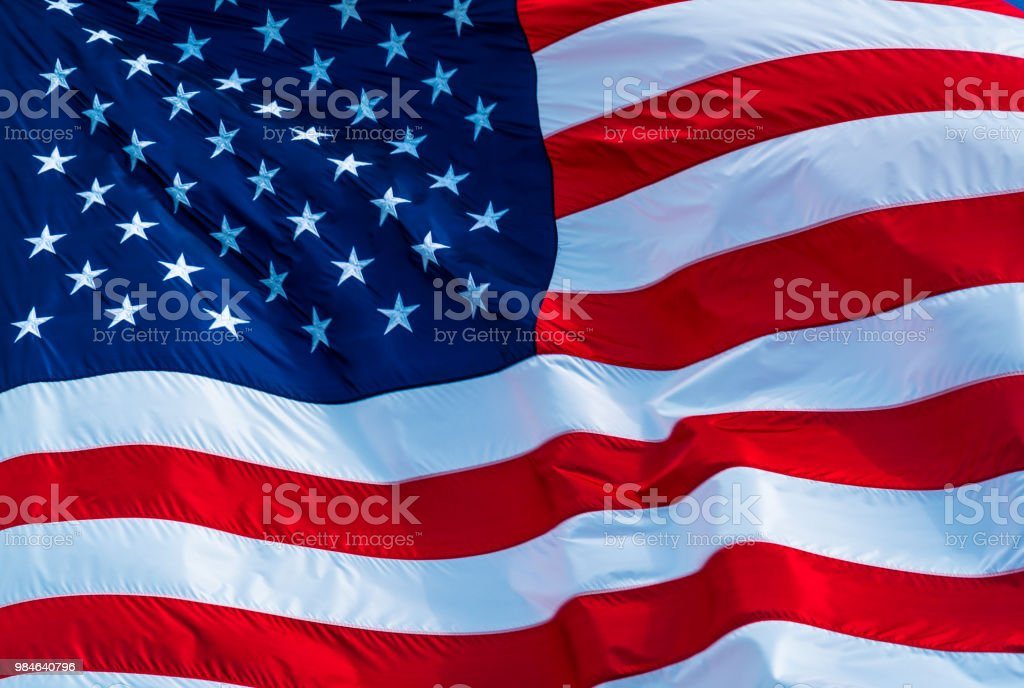 a3c3e226ecc2 American Flag Close up on only the Flag and Stars and Stripes royalty-free  stock
