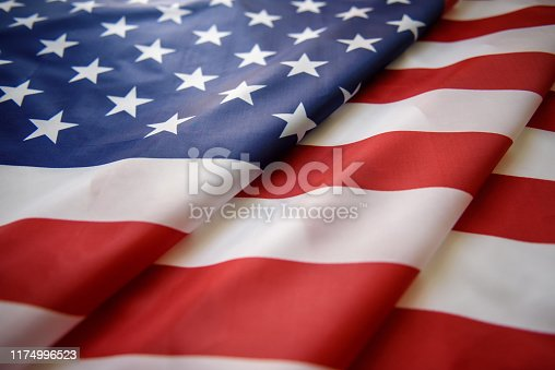 US American flag close up
