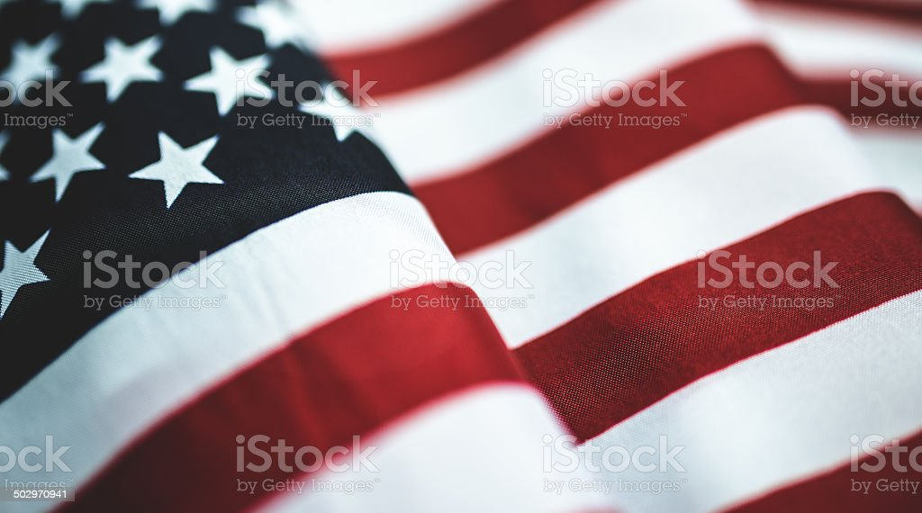 american flag close up stock photo