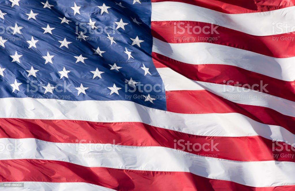 Amerikanische Flagge, Nahaufnahme – Foto