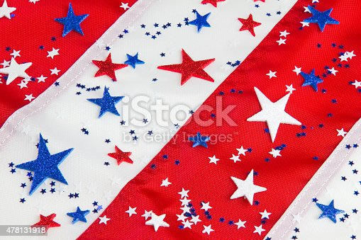 istock American flag close up with star confetti (P) 478131918