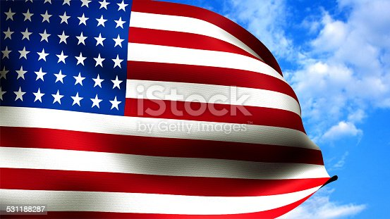 831661634istockphoto American flag closeup, highly detailed with fabric texture. 531188287