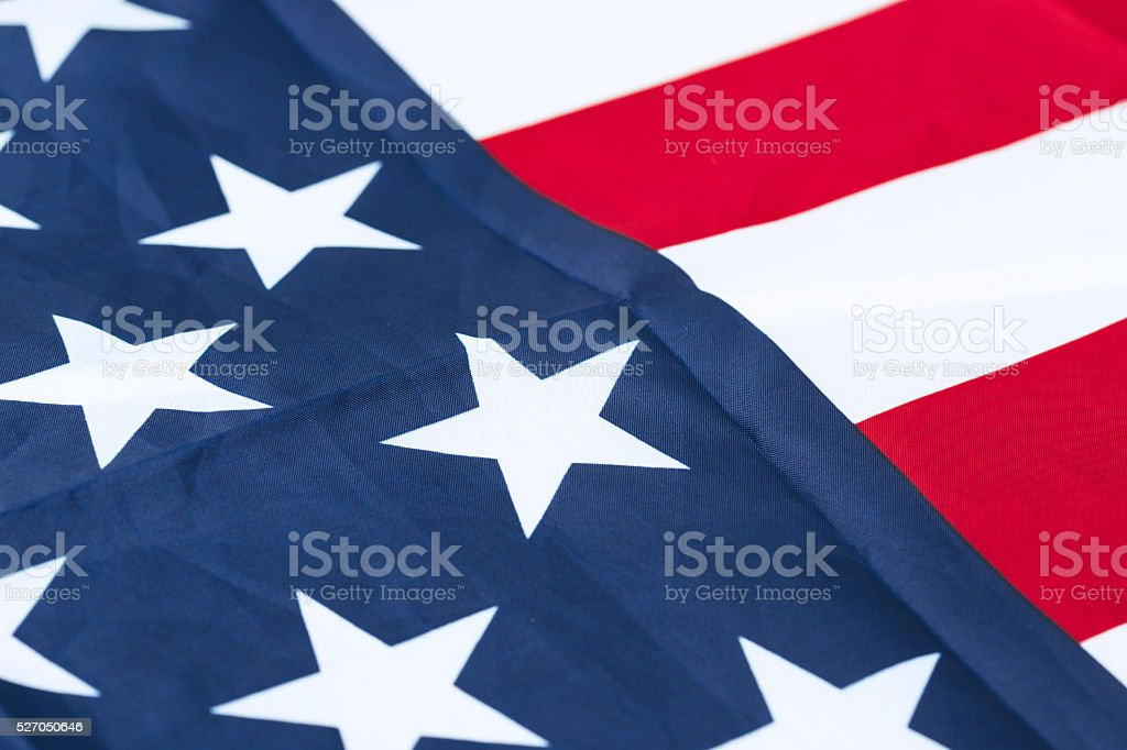 American Flag Close-Up stock photo