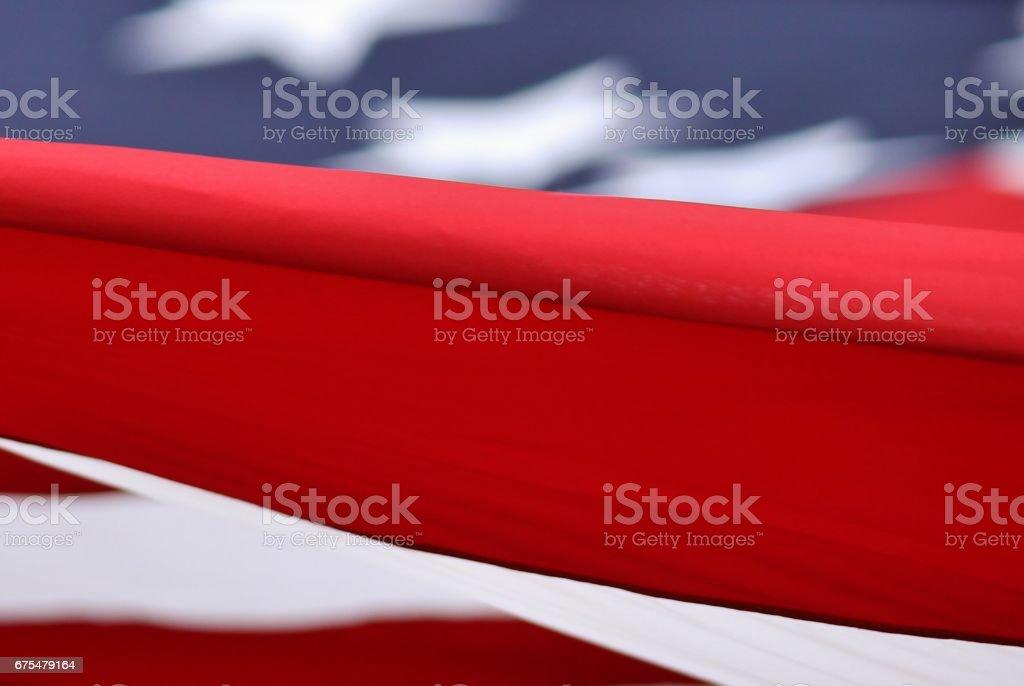 American Flag Close-up photo libre de droits