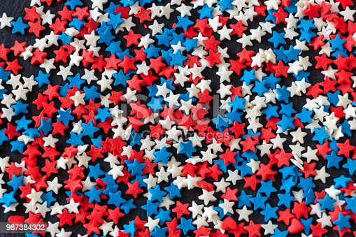 istock American flag color background concept of 4th of July. USA Independence Day. 987384302