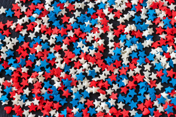 american flag color background concept of 4th of july. usa independence day. - fourth of july zdjęcia i obrazy z banku zdjęć