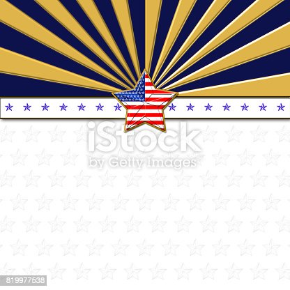 istock American Flag designed Stars, 5 pointed stars with the the Amarican Blue, Red and white, Stars and stripes, isolated against the white background. Labor Day, Independence Day etc. 819977538