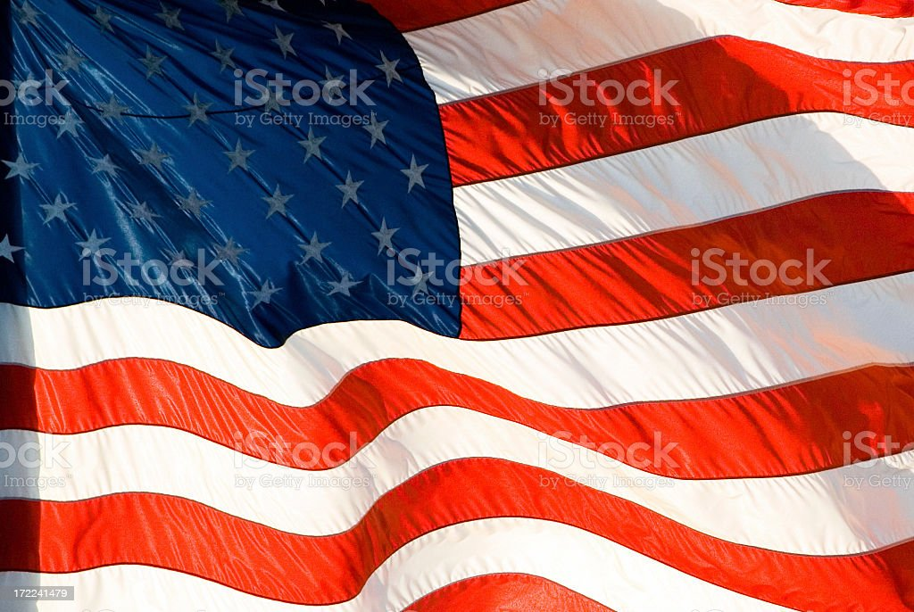 American Flag Detail Backlit royalty-free stock photo