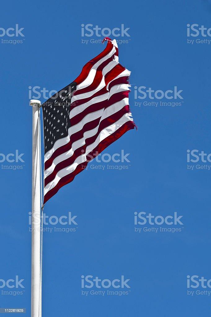 American Flag, El Morro Fort in San Juan stock photo