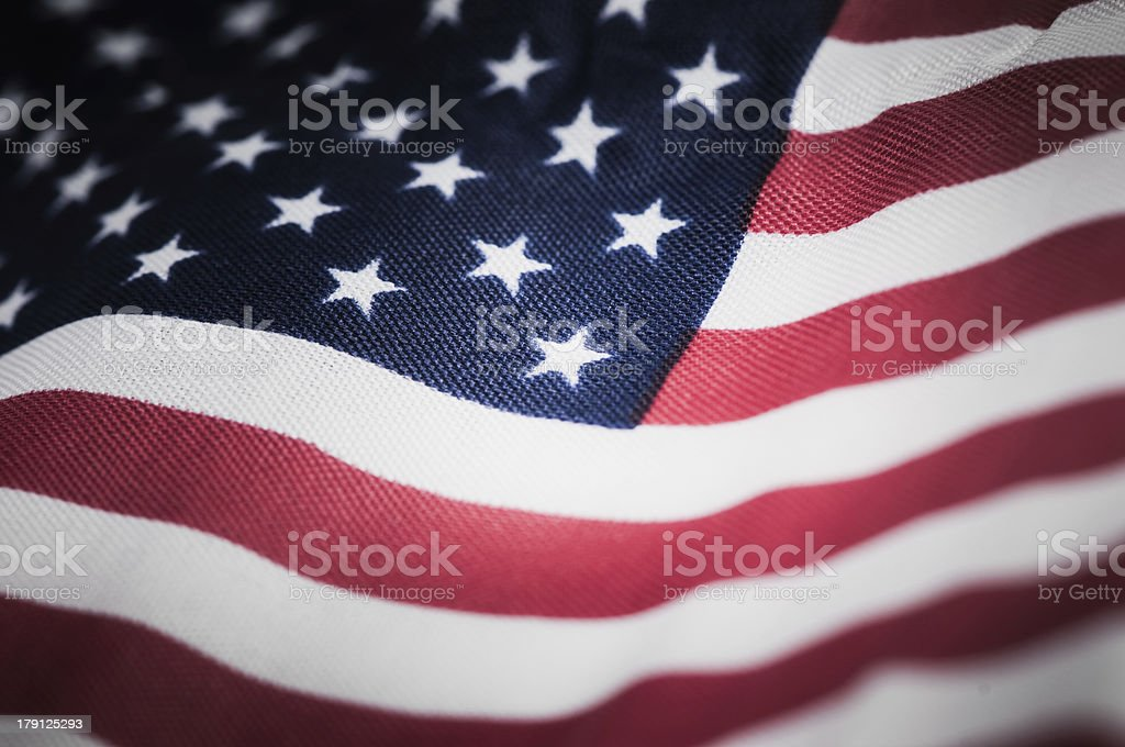 American Flag for Independence Day stock photo