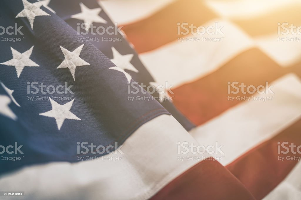 American flag for Memorial Day, 4th of July, Labour Day stock photo