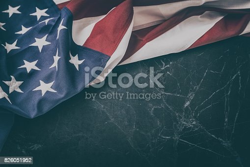 istock American flag for Memorial Day, 4th of July, Labour Day 826051952