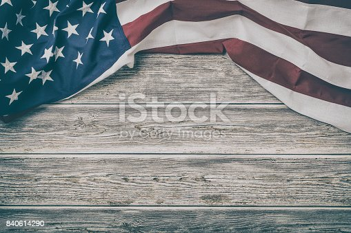 istock American flag for Memorial Day, 4th of July, Labour Day 840614290