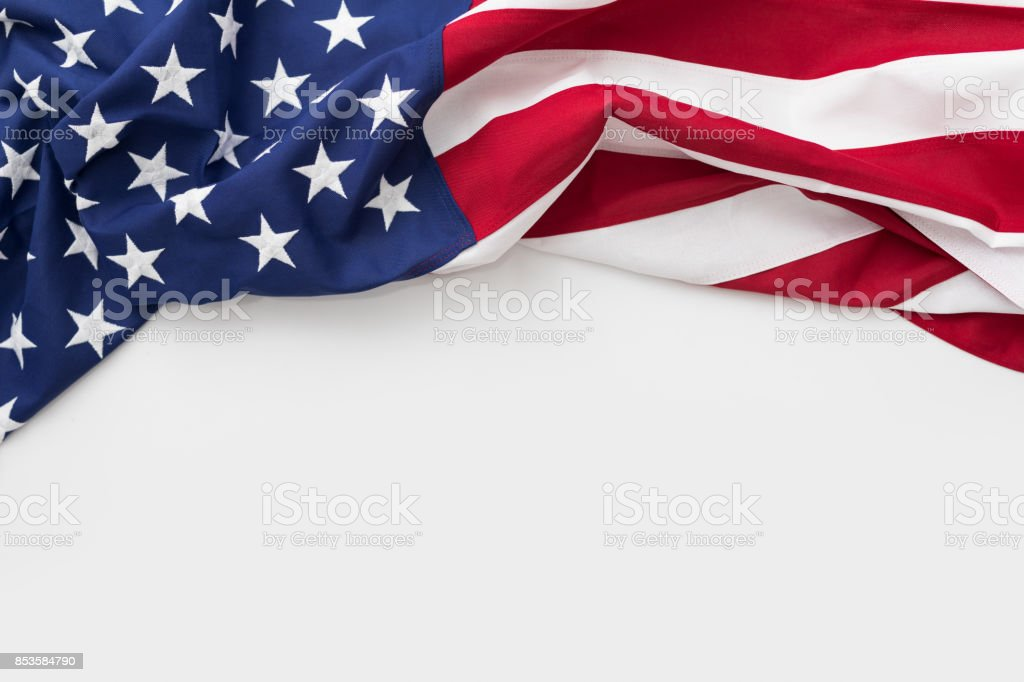 American flag for Memorial Day, 4th of July, Labour Day - fotografia de stock