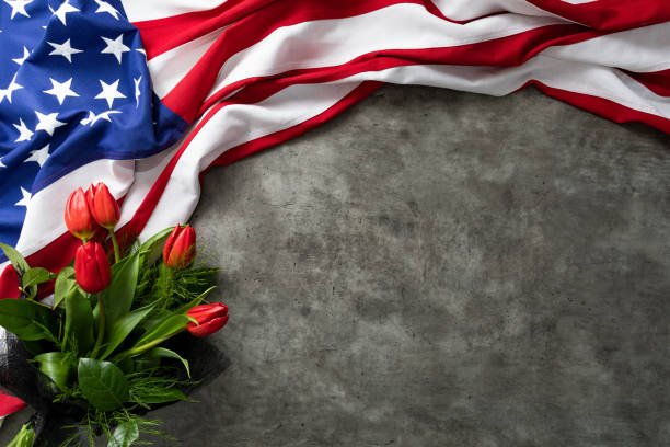 American flag for Memorial Day, 4th of July, Labour Day – zdjęcie