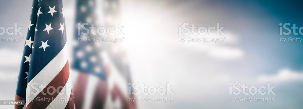American flag for Memorial Day, 4th of July, Labour Day - Royalty-free American Culture Stock Photo
