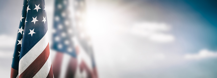 istock American flag for Memorial Day, 4th of July, Labour Day 944706874