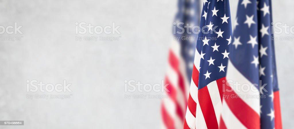 Amerikanische Flagge für Memorial Day, 4. Juli, Tag der Arbeit – Foto
