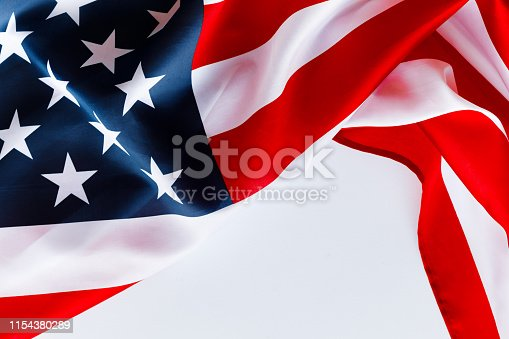 istock American flag for Memorial Day or 4th of July. 1154380289