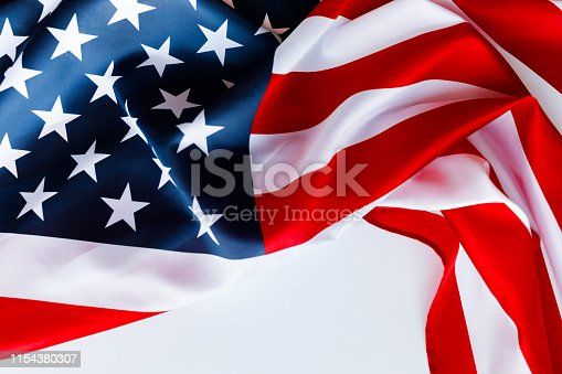 istock American flag for Memorial Day or 4th of July. 1154380307