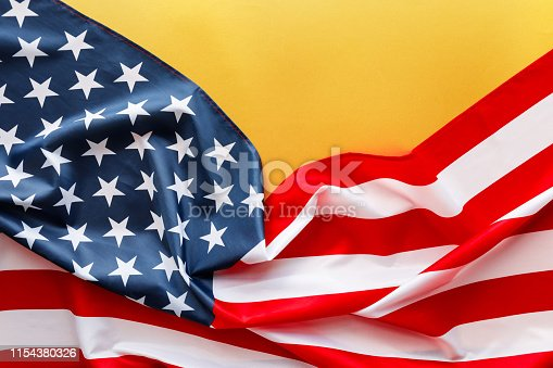 istock American flag for Memorial Day or 4th of July. 1154380326