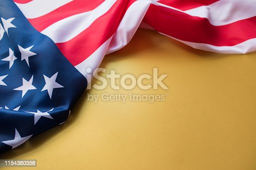istock American flag for Memorial Day or 4th of July. 1154380358