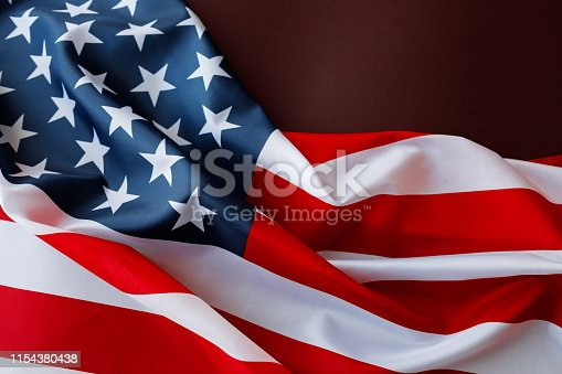 istock American flag for Memorial Day or 4th of July. 1154380438