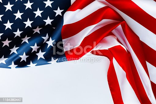 istock American flag for Memorial Day or 4th of July. 1154380447