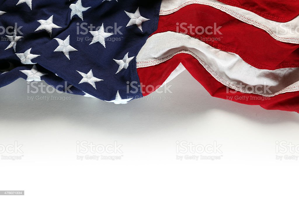 American flag for Memorial Day or 4th of July stock photo