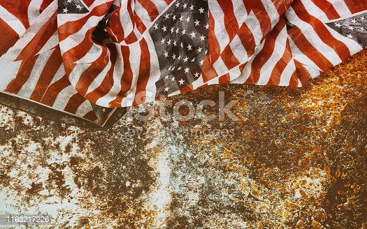 istock American flag for Memorial Day or Independence day 4th of July 1163217226