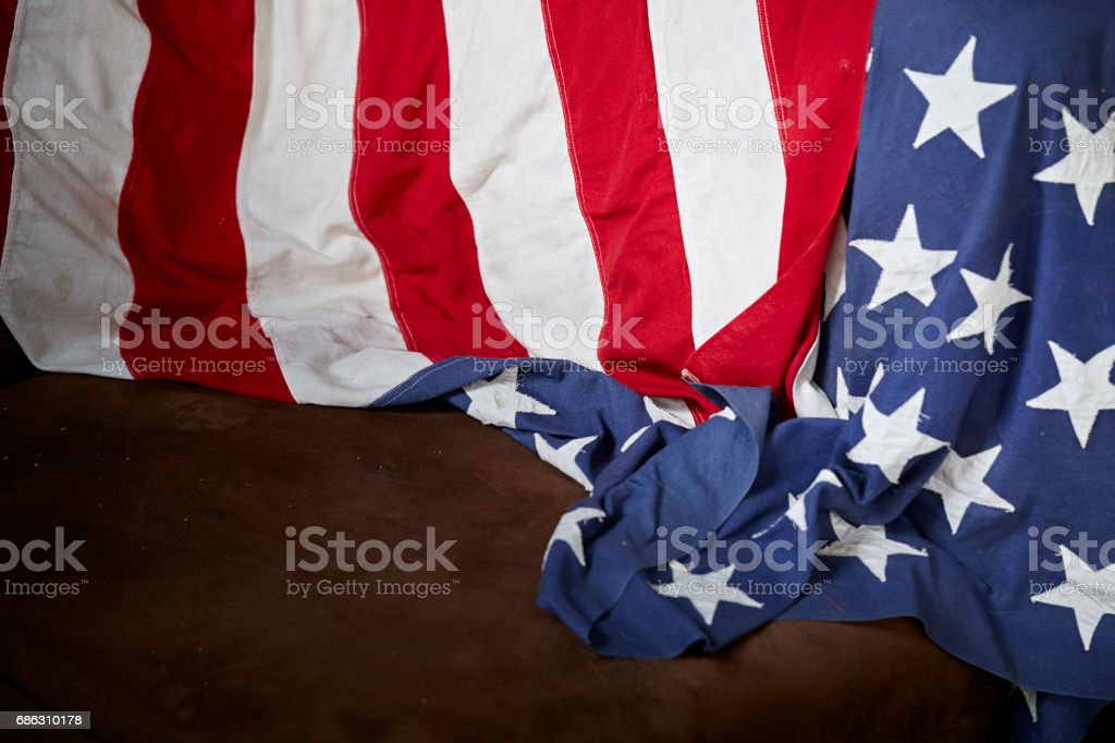 American flag for Memorial Day stock photo