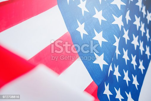 istock American flag for Memorial Independence Day 4th of July 972708816