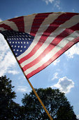 istock American flag from below 172428370
