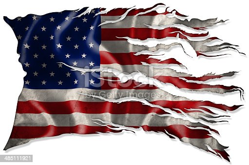istock American Flag Grunge 485111921