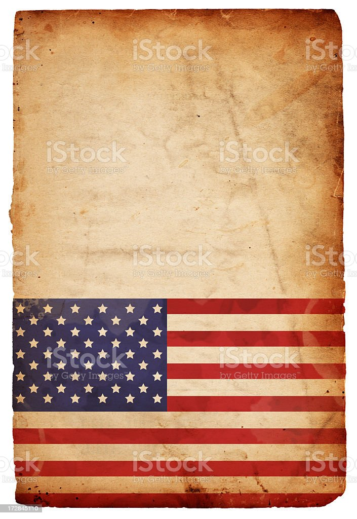 American Flag Grunge: XXXL Paper royalty-free stock photo