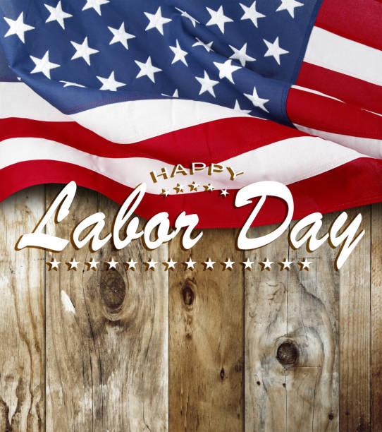 American flag. Happy Labor Day stock photo